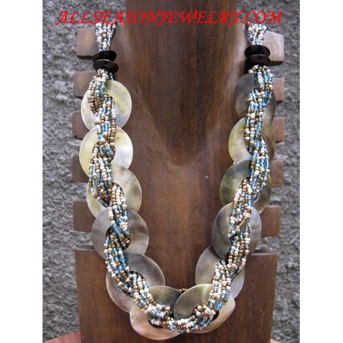 Seashell Necklace Beads