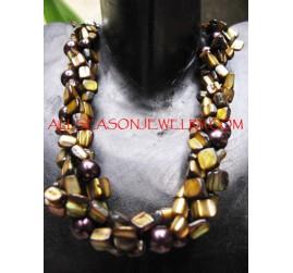 Beads Shells Multi Strand