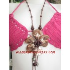 Bead Flowers Necklace