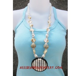 Beads Resin Necklaces Pendants