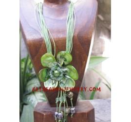 Flower Seashells Necklaces