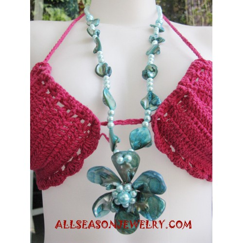 Flower Shells Necklaces