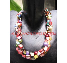 Multi Strand Necklaces Shells