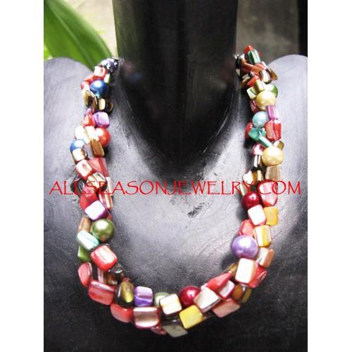 Multi Strand Necklaces Shells