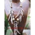 Seashell Stick Necklace