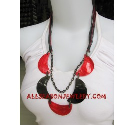 Shell Necklace Painted