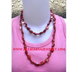 Shell Necklace With Bead