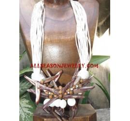 Stick Seashell Necklace
