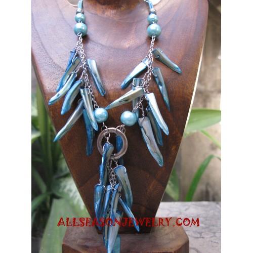 Stick Shell Necklace