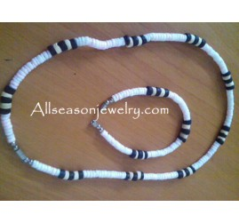 white puka shells necklace
