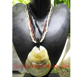 Triple Pendants Shell Necklace