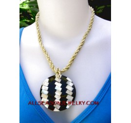 MOP beads necklaces