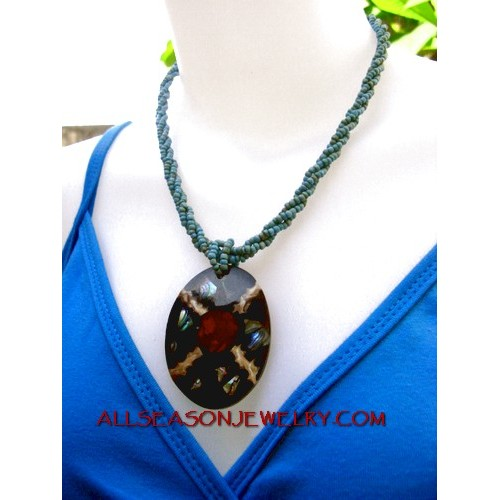 Clam Necklace Pendant