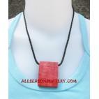 Coral Pendants Necklace