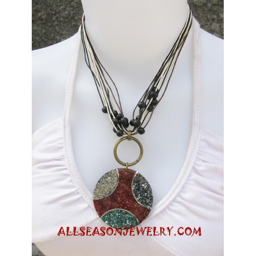 Necklace Resin Pendant