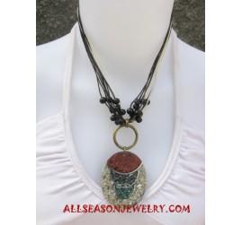 Necklace Resin Pendants