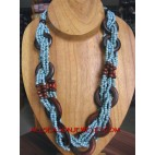 Long Wire Bead Necklaces