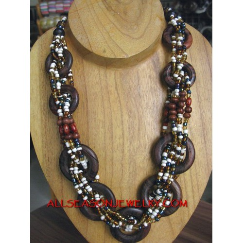Organic Beaded Necklaces