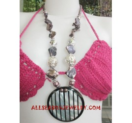 Bead Resin Shell Necklaces