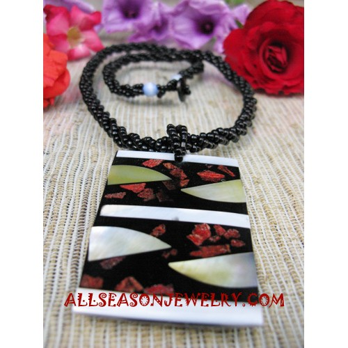 Bead Shell Resin Necklace