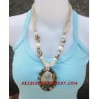 Beaded Seashells Necklaces