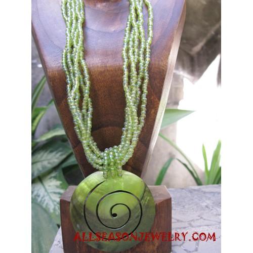 Beading Necklace Seashell