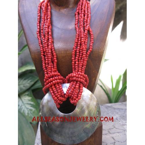 Beading Seashell Necklaces