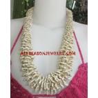 Medium Beads Necklace Natural