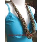 Multi Color Seeds Necklaces