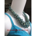 Hemp Bead Necklaces Short