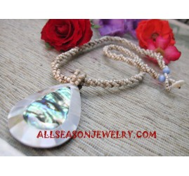 Paua Shell Resin Necklace