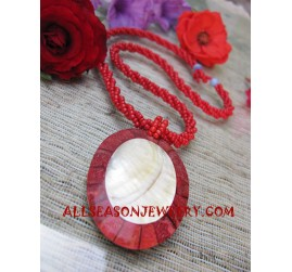 Red Coral Bead Necklace