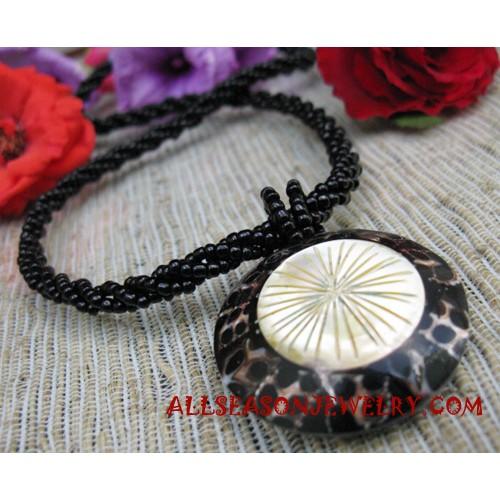 Seashells Resin Necklace