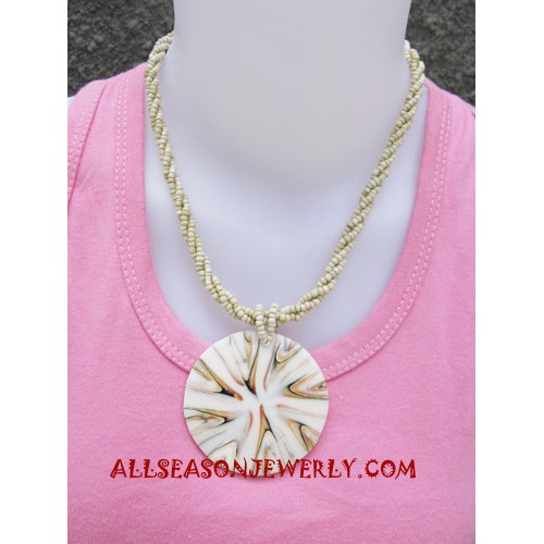 Shell Beaded Necklace