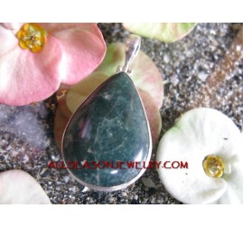 Silver Pendant with Stone
