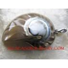 Shell Nautilus Pendant Resin