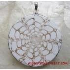 Resin Silver Pendants