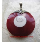 Shell Pendant Silver Natural