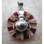 Shell Resin Silver Pendant