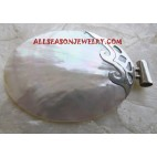 Silver Pendant Mother Pearl