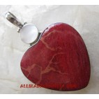 Silver Pendant Red Coral
