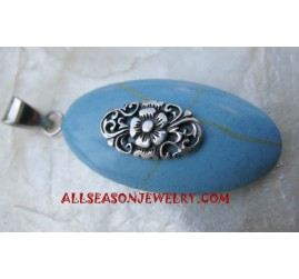 Silver Pendant Turquoise