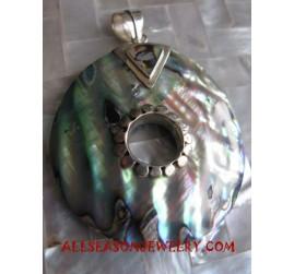 Silver Pendants Paua