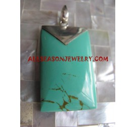 Silver Pendants Turquoise