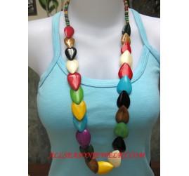 Bone Necklaces Colored