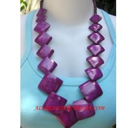 Colored Necklaces Bone