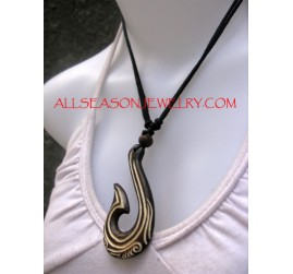 Horn Carved Pendants