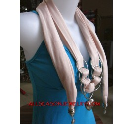 cotton scarf necklaces