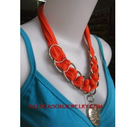 Metal Scarf Necklaces