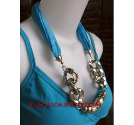 necklace scarves stainless